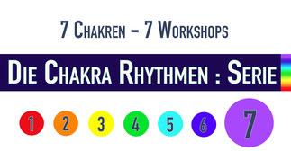 "Trommelworkshop ""CHakra Rhythmen : Serie"" • 7. Chakra • 21.3.2019 • Trommelschule Yngo Gutmann, Leipzig"