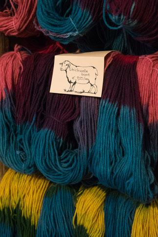 Strickwolle in verschiedenen Farben