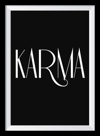 Typografie Poster Inspiration, Karmy