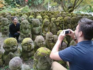 Otagi nenbutsu-ji temple, stone sculptures