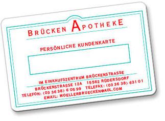 Die Kundenkarte der Brücken Apotheke