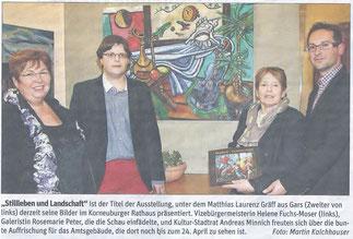 Gräff - Ausstellung korneuburger Rathaus, NÖN Horn (Martin Kalchhauser)