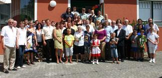 Familienfeier 90. Geburtstag von Frau Leopoldine Gräff. Familienfoto mit der Jubilarin. Foto Gerhard Baumrucker (NÖN Horn)