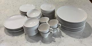 White Franciscan Dinnerware Set $195.00