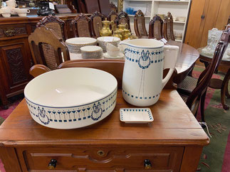 German Pitcher, Bowl, Soap Dish  $145.00