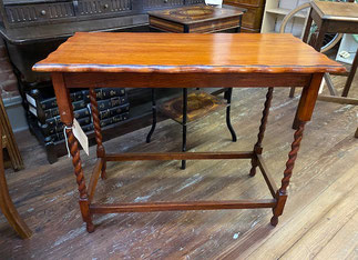 Barley Twist Oak Long Hall Table $199.00