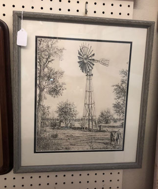 Framed Print Windmill $45.00