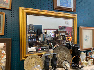 Gold Framed Beveled Mirror $45.00