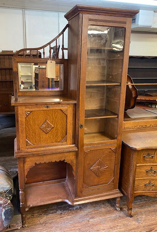 Oak Side by Side with Desk and Storage $795.00
