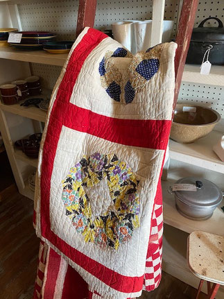 Red Bordered Quilt $95.00