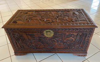 Hand Carved Chinese Chest $595.00