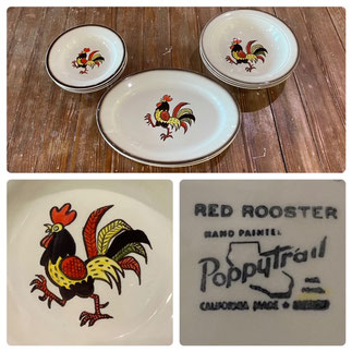 Poppytrail Red Rooster $7.50-$25.00 each piece