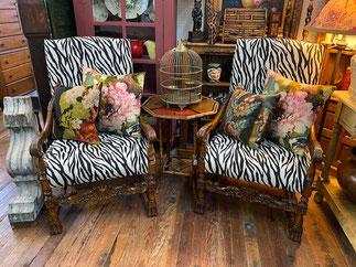 Zebra Chairs PAIR $695.00