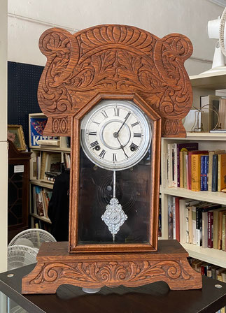 American Oak Kitchen Clock $95.00