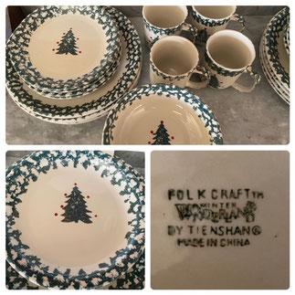 Folk Craft Winter Wonderland Place Setting for Four $35.00