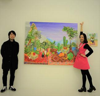 2年前にパトロンプロジェクト菊池麻衣子賞とさせていただいた福本 健一郎さんと新作と共に