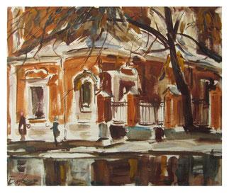 Forgotten places - oil on paper & watercolor / Vergessene Orte - Öl auf Papier & Aquarell