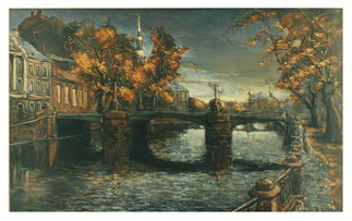 Petersburg Elegies & Autumn walks - Oil painting  /  Petersburger Elegien & Herbstspaziergänge - Gemälde