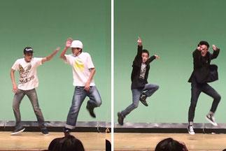 KAZUMA&RIKUTOは、息が合った超クールなブレイキン。優介&Shunは、千本桜と残酷な天使のテーゼで弾けるロックダンス!