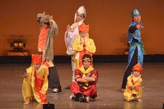 2-05.リズム&ダンス(ISOKUMI)|三蔵法師の仲間たち。キャラクターと一緒に踊って、とっても楽しいシーンでした。