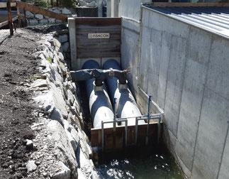 FISHCON-Schleuse mit Turbine