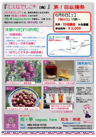ミスなでしこⓇ 第1回収穫祭