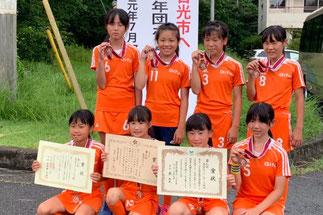 女子第3位 各務原市ホッケースポーツ少年団