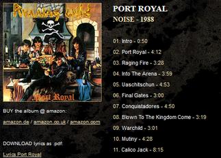 4tnアルバム。さらに海賊コンセプトを昇華。タイトルトラックのポートロイヤルが爽快感がありカッコいい。