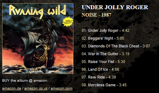 3rd アルバム。こっから海賊イメージでブレイクし始める。一曲目のイントロの大砲音に注意w タイトルトラック「アンダー・ジョリー・ロジャー(=海賊旗のもとに集え!)」が勇ましくて素敵。