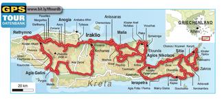 Die Autoren haben im Osten und im Zentrum Kretas an sechs Reise-tagen ca. 1200 km zurückgelegt.