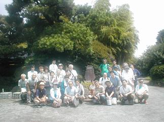 山口家住宅での記念写真