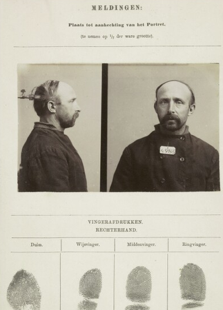 Signalementkaart Veenhuizen opname: 16-07-1896