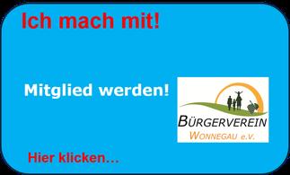 Mitglied werden beim Bürerverein Wonnegau!