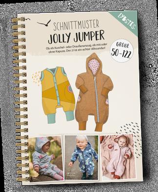 Lybstes Jolly Jumper Schnittmuster und E-Book! Draußenanzug selber nähen, Babystrampler Schnittmuster