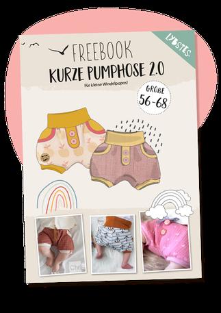 Lybstes Freebook zur kurzen Pumphose 2.0! Eine Baby-Pumphose nähen mit diesem kostenlosen Schnittmuster