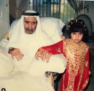 Sheikha LATIFA et son grand-père Sheikh RACHID