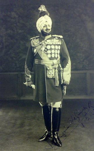 S.A.R   BHUPINDER SINGH  en 1922 (1891+1938)