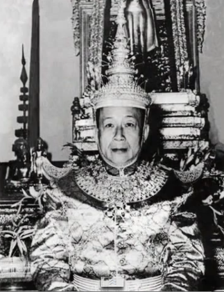 SA MAJESTE LE ROI VATTHANA SAVANG ROI DU LAOS OCT.1959/DEC.1975 (11 NOV.1907-1978/80? EN DEPORTATION)