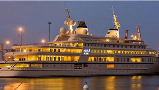 AL SAID I55m 3ème plus grand yacht du monde construit chez Lürssen:Blohm et Voss, dessiné par ESPEN OINO, livré en 2008.