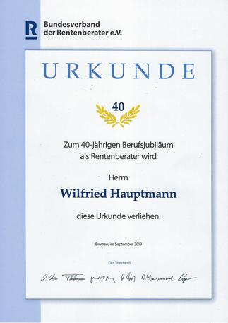 40 Jahre Rentenberater Deutschland, Bonn, Köln, Düsseldorf, Frankfurt