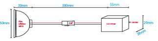 Einbaumasse LCC-4W/Kit-WW