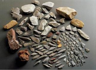 瓜破西1丁目出土 後期旧石器時代~縄文時代の石器