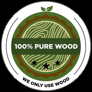 Pure Wood label