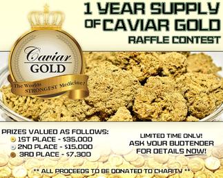 caviar gold marihuana con aceite y polen