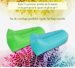 2 Sacs de couchages gonflable rapide Air Imperméable