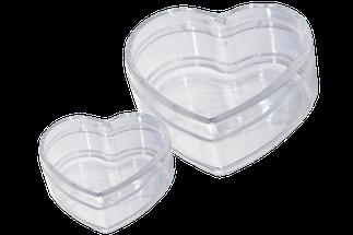 Kunststoffherzen dosen transparent