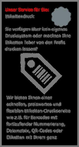 Service Niesel-Etikett Etikettendruck