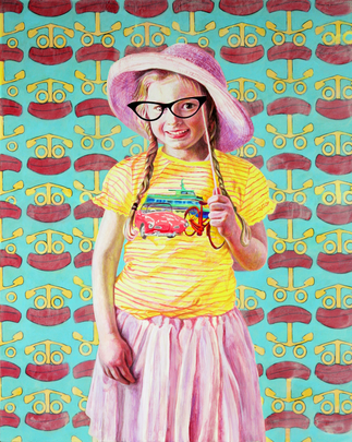 Die Ludwigshafenerin, Gabi Klinger, Porträtmalerei, Ludwigshafener Kultursommer Plakat  2019