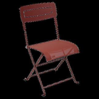 Slim silla plegable de exterior moderna en acero y textilene fermob slim lacadira.com
