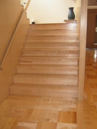 階段 桜 無垢